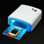 36W Gel Curing UV Lamp, Phone Repair Solidifying Equipment, Nail Dryer with 4pcs 9W UV Bulbs(White)