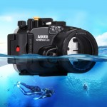 PULUZ 40m Underwater Depth Diving Case Waterproof Camera Housing for Sony A6000
