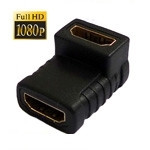 HDMI Angle Coupler (Female to Female) - 90 Degree (Gold Plated)(Black)