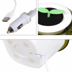 Car Auto Potted Plant Shape Cigarette Lighter Air Purifier Negative Ione Freshener Air Cleaner, Removes Pollen, Smoke, Bad Smell