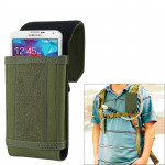 Stylish Outdoor Water Resistant Fabric Cell Phone Case, Size: approx. 17cm x 8.3cm x 3.5cm (Army Green)