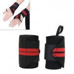 2 PCS Elastic Band Sports Badminton Weightlifting Power Bands, Size: 43 x 8cm, Random Color Delivery