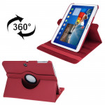 360 Degree Rotation Litchi Texture Leather Case with Holder for Samsung Galaxy Tab 3 (10.1) / P5200 / P5210, Red(Red)