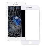 iPartsBuy for iPhone 7 Front Screen Outer Glass Lens with Front LCD Screen Bezel Frame(White)