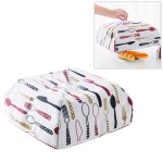 Foldable Thickened Aluminum Foil Food Heat Preservation Cover, Size: L (37 x 37 x 15cm)(Red)