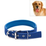 Foam Cotton Polyester Pet Collars Pet Neck Strap Dog Neckband Cats Dogs Collars, 3.5cm x 57cm (Blue)