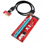 USB 3.0 PCI-E Express 1x to 16x PCI-E Extender Riser Card Adapter 15 Pin SATA Power with USB Cable