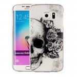 Coque pour Samsung Galaxy S6 Edge / G925 Skull Pattern IMD Workmanship Soft TPU Housse de protection - Wewoo