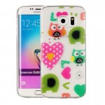 Coque pour Samsung Galaxy S6 Edge / G925 Amour Owls Pattern IMD Workmanship Soft TPU Housse de protection - Wewoo