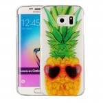 For Samsung Galaxy S6 Edge / G925 Pineapple Pattern IMD Workmanship Soft TPU Protective Case