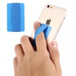 Support Holder bleu pour iPhone, Galaxy, , Xiaomi, LG, HTC et tablettes Courroie universelle ultra-fine, taille: 53 x 33 x 1,...