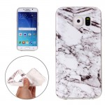 For Samsung Galaxy S6 / G920 White Marbling Pattern Soft TPU Protective Back Cover Case