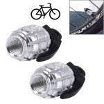 2 PCS Universal Grenade Shaped Bicycle Tire Valve Caps(Silver)