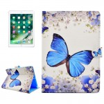 For iPad 9.7 inch 2017 Flower Butterfly Pattern Horizontal Flip Leather Protective Case with Holder & Card Slots & Wallet