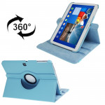 360 Degree Rotation Lichi Texture Leather Case with Holder for Samsung Galaxy Tab 3 (10.1) / P5200 / P5210, Baby Blue