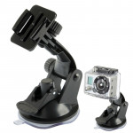 ST-17 Car Mount Dashboard & Windshield Vacuum Suction Cup for GoPro Hero 4 / 3+ / 3 / 2 / 1(Black)