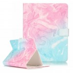 For 8 inch Tablet PC Pink Green Marble Pattern universal Horizontal Flip Leather Case with Holder & Card Slots & Wallet(White)