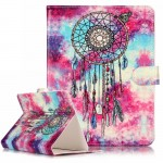 For 8 inch Tablet PC Butterfly Wind Chimes Pattern universal Horizontal Flip Leather Case with Holder & Card Slots & Wallet(Purp