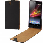 Vertical Flip Leather Case for Sony Xperia Z / L36h / Yuga C6603 (Black)