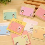 8 Pack Little Girl Sticky Notes Book Random Color Delivery (Cover Colors: Niuzai series)