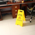 Caution Wet Floor Sign Cleaning Slippery Warning Both Side Safety Hazard Warning Frame