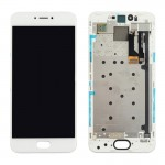 iPartsBuy Meizu Pro 6 LCD Screen + Touch Screen Digitizer Assembly with Frame(White)