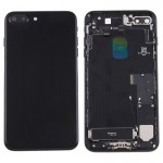 iPartsBuy for iPhone 7 Plus Battery Back Cover Assembly with Card Tray (Jet Black)