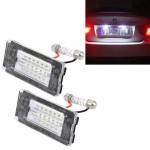 2 PCS License Plate Light with 18 SMD-3528 Lamps for BMW MINI R56,2W 120LM,6000K, DC12V (White Light)