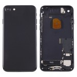 iPartsBuy for iPhone 7 Battery Back Cover Assembly with Card Tray (Jet Black)