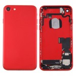 iPartsBuy for iPhone 7 Battery Back Cover Assembly with Card Tray(Red)