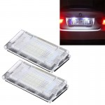 2 PCS License Plate Light with 18 SMD-3528 Lamps for BMW E46 4D 1998-2003,2W 120LM,6000K, DC12V (White Light)