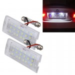 2 PCS License Plate Light with 18 SMD-3528 Lamps for BMW E53(X5),2W 120LM,6000K, DC12V (White Light)