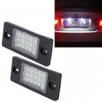 2 PCS License Plate Light with 18 SMD-3528 Lamps for Volkswagen Touareg 2003-2010 ,Prosche Cayenne 2002-2010,2W 120LM, DC12V