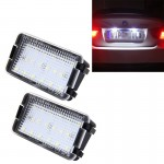 2 PCS LED License Plate Light with 18 SMD-3528 Lamps for Seat,2W 120LM,6000K, DC12V(White Light)