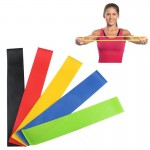 5 Color (Black, Blue, Green, Red, Yellow) Heavy Thicker Resistance Bands Fitness Natural Latex Stretch Band Yoga Straps with Pou