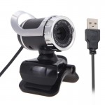 A859 12.0 Mega Pixels HD 360 Degree WebCam USB 2.0 PC Camera with Sound Absorption Microphone for Computer PC Laptop, Cable Leng