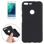 For Google Pixel XL Soft TPU Protective Back Cover Case (Black)