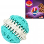 Dog Toy Balls for Pets Tooth Cleaning Chewing Toys Balls of Non-Toxic Soft Rubber , Small Size (Baby Blue)