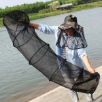 1.5m Fish Net Cage 5 Layers Collapsible Fish Care Net Fish Cage Wire Fish Care Anti-scraper Care,Random Color Delivery