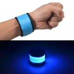 LED Luminous Velcro Slap Pat Circle Outdoors sports Wristband, Large, Size:35*4cm(Blue)