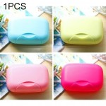 Home Travel Soap Box Lock Sealed Waterproof Leakproof Soap Holder Case with Cover Soap Dishes Container,Random Color Delivery,La