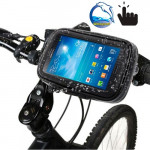 Bicycle Handlebar Mount Holder Waterproof / Sand-proof / Snow-proof / Dirt-proof Zipper Touch Bag, Suitable for Samsung Galaxy N