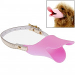 Large Size Cute Duck Mouth Shape Silicone Muzzle for Pet Dog (Pink)