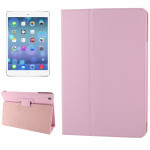 Litchi Texture Flip Leather Case with Holder & Sleep / Wake-up Function for iPad Air(Pink)