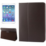 Litchi Texture Flip Leather Case with Holder & Sleep / Wake-up Function for iPad Air(Brown)