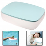 2 in 1 Multifunction Air Inflatable Cushion Pillow / Small Desk for Office / Home / Camping (Blue)