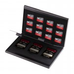 15 in 1 Memory Card Aluminum Alloy Protective Case Box for 3 SD + 12 TF Cards(Black)