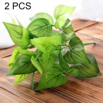 2 PCS Artificial Plants For Plastic Flowers Household Store Supplies Decoration Chicken Heart Leaf