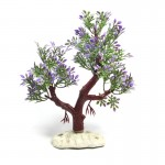 Artificial Tree Plant Grass Figurines Miniatures Aquarium Fish Tank Landscape, Size: 19.0 x 16.0cm