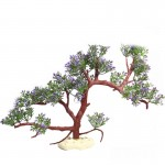 Artificial Tree Plant Grass Figurines Miniatures Aquarium Fish Tank Landscape, Size: 23.0 x 39.0cm(Purple)